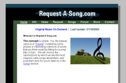 Request-A-Song 2002 Website